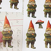 Gnome and Mushroom Stickers