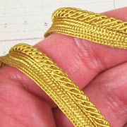 Narrow Gold File Braid