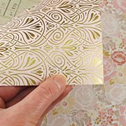 Pink and Gold Floral Scrapbook Paper