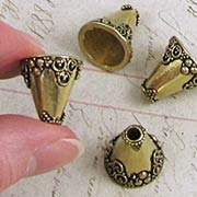 16mm Brass Fancy Bead Cap or Dollhouse Vase