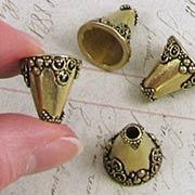 16mm Brass Fancy Bead Cap or Dollhouse Vase