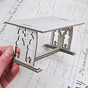 Gothic Trestle Table - 1:12 Scale