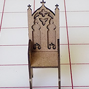 Half Scale Gothic Chair Ornate