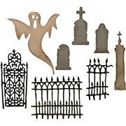 Tim Holtz Village Graveyard Die Set - 8 Pieces
