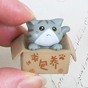 Cat in a Box - Grey
