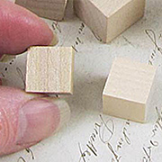 1/2 Inch Wooden Cube Blocks
