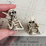 Half Miniature Skeleton Figurine
