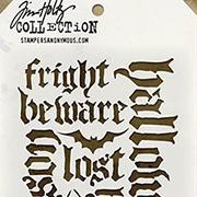 Tim Holtz Stencil - Halloween Script