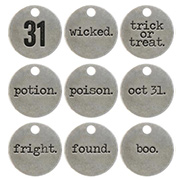 Tim Holtz Typed Tokens - Halloween