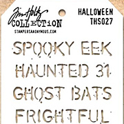 Tim Holtz Stencil - Halloween Text