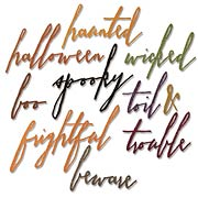 Tim Holtz Thinlits Handwritten Halloween Words Die Set