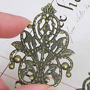 Bronze Harp Filigree
