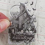 Haunted House Clear Stamp*