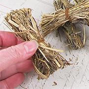 Miniature Bundles of Hay or Straw