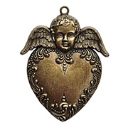 A Gilded Life - Heart Angel Pendant - Gold