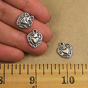 Heart Charms with Border
