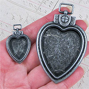 Set of Heart Locket Pendants