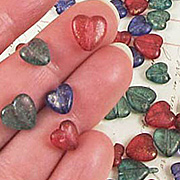 Matte Acrylic Heart Bead Mix**
