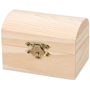 Hinged Wood Chest with Clasp*