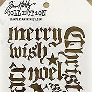 Tim Holtz Stencil - Holiday Script