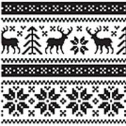 Holiday Knits Cling Stamp Set