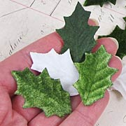 Vintage Velvet Holly Leaves