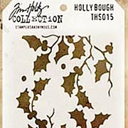 Tim Holtz Stencil - Holly Bough