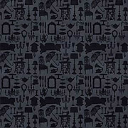 Home Decor - Black on Black Scrapbook Paper