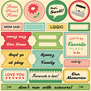 Modern Homemaker: Word Stickers