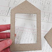 House Shaped Die-Cut Chipboard