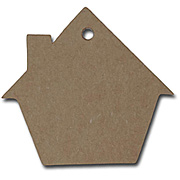 Kraft House-Shaped Gift Tags*
