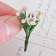 Miniature Iris Stems - Lavender