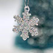 1 Inch Iridescent Snowflake Ornaments