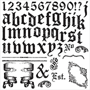 Iron Orchid Designs Gothic Alphabet Clear Stamp Set