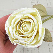 Large Ivory Paper Rose