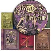 Jules Verne ATC Book Covers Collage Sheet