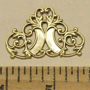 Large Brass Filigree Corner