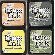 Distress Mini Ink Kit - Kit 10 - Soft Rose & Sage