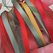 Round Ornaments Ribbon Set