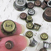 Finnabair Mechanicals Embellishments - Mini Metal Knobs