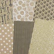 Accomplished Black, White & Kraft 6x6 Paper Pad