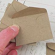 Tiny Envelopes - Brown Bag Kraft*
