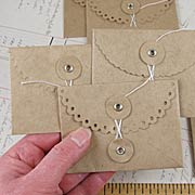 Kraft Gift Card Envelopes
