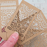 Lace Laser-Cut Chipboard Tags*
