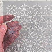 6x6 Stencil - Lace Trim