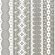 Dazzles Silver Lacy Borders Stickers