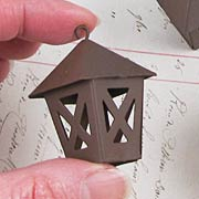 Miniature Rusty Metal Lantern