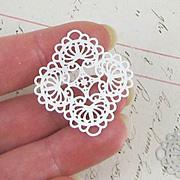 34mm Silver Diamond Filigree Pendants*