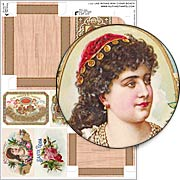 Las Rosas Mini Cigar Boxes Collage Sheet