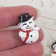 25mm Laughing Snowman Cabochon